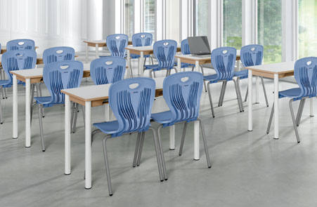 School furniture, giving the preference to the children